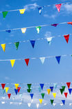 Colorful pennants Royalty Free Stock Images