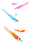 Colorful pens Stock Images