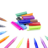 Colorful pens isolated on white Stock Photos