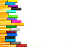 Colorful pens on isolated Royalty Free Stock Photography