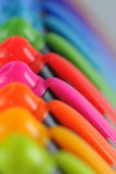 Colorful pens in a row Stock Image