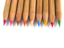 Colorful pens (up-view) Stock Photos