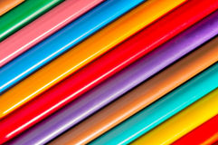Colorful pens with vivid colors Royalty Free Stock Images