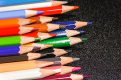 Colorful of pensil color Royalty Free Stock Photography