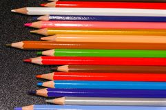 Colorful of pensil color Royalty Free Stock Images