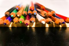 Colorful of pensil color Royalty Free Stock Photo