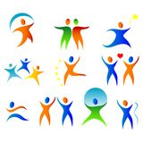 Colorful people. Silhouete illustration of a colorful people stock illustration