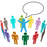 Colorful People Audience hear leader announcement Royalty Free Stock Images