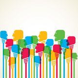 Colorful people background. Stock Royalty Free Stock Images