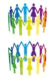 Colorful people in circle, vector Royalty Free Stock Images