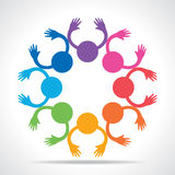 Colorful People Connection concept Royalty Free Stock Images