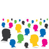 Colorful people crowd background Royalty Free Stock Image