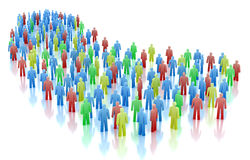 Colorful people crowd concept. Over white Stock Images
