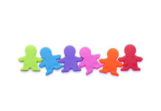 Colorful people figures Royalty Free Stock Photography