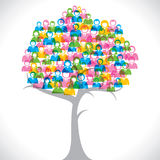 Colorful people group tree Stock Image