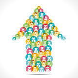 Colorful people icon design arrow Stock Photos