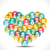 Colorful people icon design heart shape Stock Images