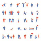 Colorful people icons. Vector colorful people icons. Rest, work and family Royalty Free Stock Photography
