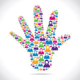 Colorful people make hand Royalty Free Stock Image