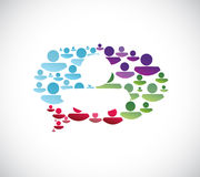 Colorful people message bubble illustration Royalty Free Stock Image