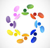 Colorful people message communication Stock Photography