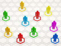 Colorful People Network Royalty Free Stock Images