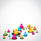 Colorful people network Stock Photo