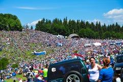 Colorful people, pilgrims around the world on Catholic pentecostal Stock Image