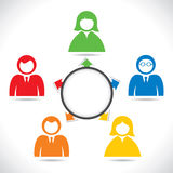 Colorful people point arrow Royalty Free Stock Photos