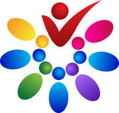 Colorful people team. A vector drawing represents colorful people team design Royalty Free Stock Images