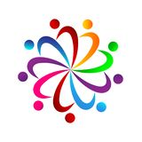People team work together union colorful people work together royalty free illustration