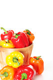 Colorful pepper basket vertical Stock Photo