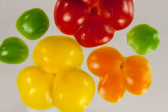 Colorful pepper bottoms Royalty Free Stock Image