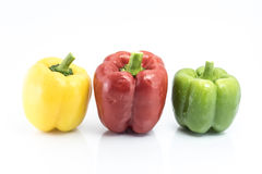 Colorful pepper solated on white background Stock Photos