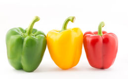 Colorful pepper  on white background Royalty Free Stock Image