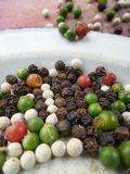 Colorful  peppercorns spice Royalty Free Stock Image