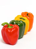 Colorful peppers. Isolated Royalty Free Stock Image