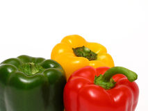 Colorful peppers. Isolated Stock Image