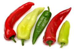 Colorful peppers Stock Photos