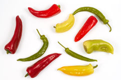 Colorful peppers Stock Photography