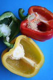 Colorful Peppers Green Red and Yellow Royalty Free Stock Photography