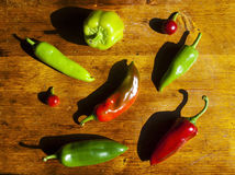 Colorful peppers Royalty Free Stock Photography