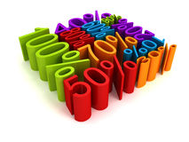 Colorful percent discount sale price cube shape Stock Photo