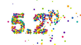 The colorful 5.2 percent sign stock footage
