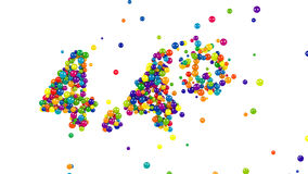 The colorful 4.4 percent sign stock footage