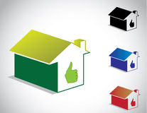 Colorful perfect green home house icon Royalty Free Stock Photos
