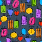 Perfume bottles icons seamless pattern. Eau de parfum. Colorful perfume bottles icons seamless pattern. Eau de parfum background. Eau de toilette. Doodle sketch Royalty Free Stock Image