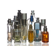 Colorful perfume bottles Royalty Free Stock Images