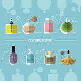Colorful Perfume Royalty Free Stock Image