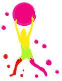 Colorful  person Stock Image